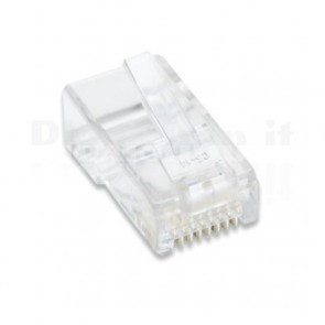 Confezione 10 Plug cat. 5E RJ45 per cavo UTP