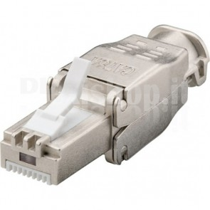Plug Cat.6A RJ45 STP Tooless con Copriconnettore