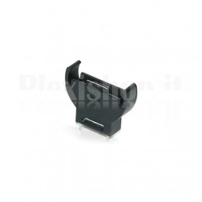 Vertical battery holder CR2032