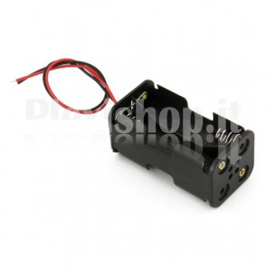 Portabatterie per 6 celle di tipo AA