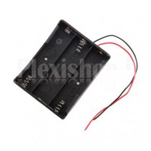 Portabatterie per 3 celle Litio 18650 (168A)