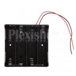 Portabatterie per 4 celle Litio 18650 (168A)
