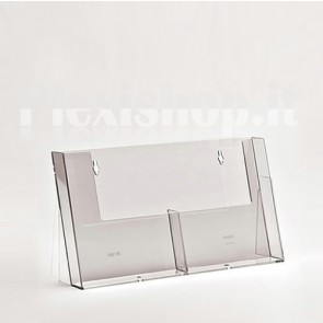 Double A5 brochure holder