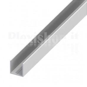 Profilo Alluminio ad U 10x10x1 mm