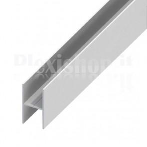 Profilo Alluminio ad H 25x12.3x1 mm