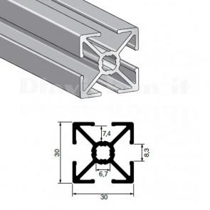 Profilo strutturale in alluminio S30 - 2,2 mt