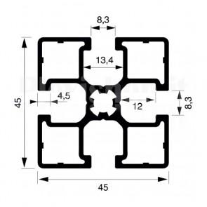 Profilo strutturale in alluminio S45 - 2,2 mt
