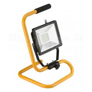 Proiettore LED da Lavoro per Esterno con Base 20W 1650lm