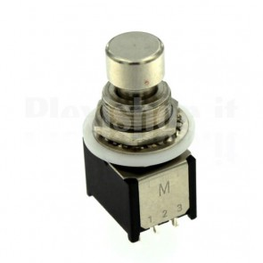 Pulsante metallico PBS-24-312SP ON-(ON) 3PDT