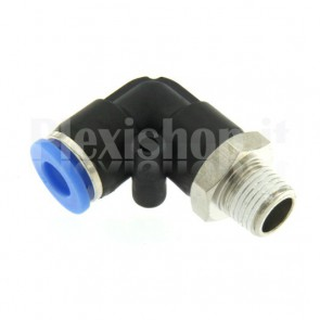 L type pneumatic automatic fitting – 4 mm / thread 1/8""