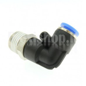 L type pneumatic automatic fitting – 10 mm / thread 1/4""