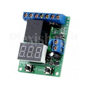 Relay programmabile controllato in tensione con voltometro LED