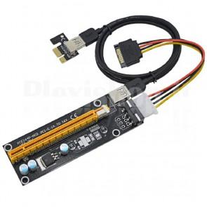 PCI-e riser x1 x16 USB3.0 6pin, 60cm