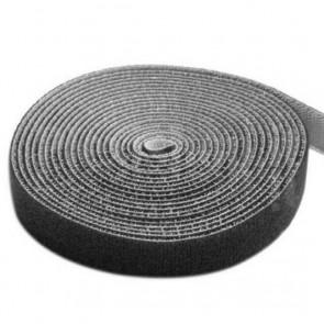 Rotolo di Velcro Fermacavi Lunghezza 10m Larghezza 20mm Nero