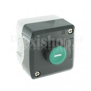 """Scatola comando IP65 - un pulsante verde NO+NC """"1"""""""