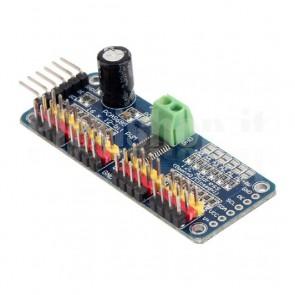 Scheda di espansione PWM / Servo a 16 canali per Arduino e Raspberry Pi, con PCA9685