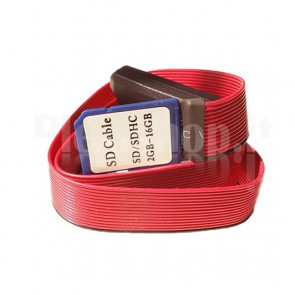 SD card extender con ribbon rosso, 52cm