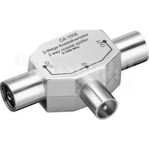 Sdoppiatore per Antenna RF 2 Femmina/Maschio 9.5 mm