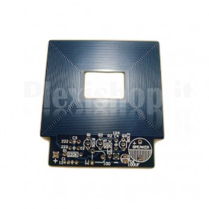 Semplice rilevatore di materiali metallici (metal detector) in kit