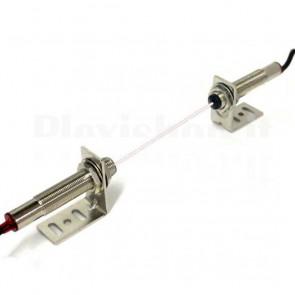 Sensore laser emettitore e rilevatore M12x1.0