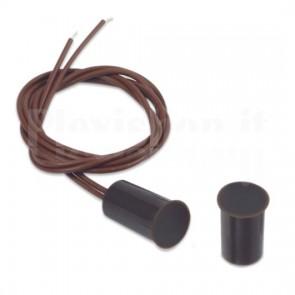 Sensore Magnetico da Incasso per Porte e Finestre, Marrone