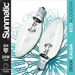 Set 2 Lampadine Alogene E14 20W 235lm dimmer classe C