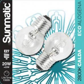 Set 2 Lampadine Alogene E27 20W 235lm dimmer classe C