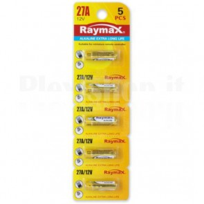Set 5 Batterie 27A Super Alcalina