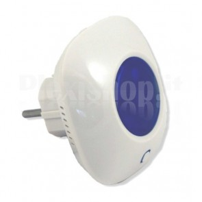 Sirena con Lampeggiante Wireless da Interni per Antifurto