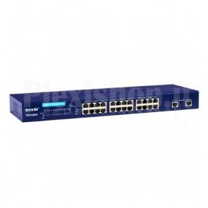 Smart Switch 24 Porte 10/100 + 2 porte Gigabit Blu TEH1026G