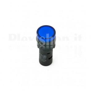 Spia luminosa da pannello Blu AD16-16C