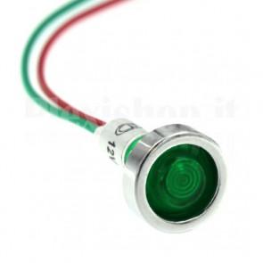 Spia Luminosa XD10 Led Rossa 12 Volt