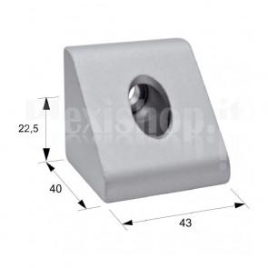 Squadra in alluminio 40x40x43 mm