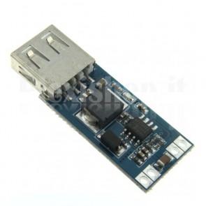 Stabilizzatore switching DC-DC da 9/12/24Vcc a USB 5Vcc