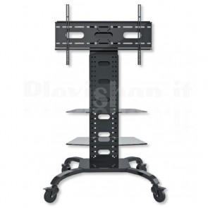 Supporto a Pavimento con 2 Mensole Trolley TV LCD/LED/Plasma 32-70''