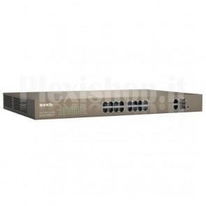 Switch PoE Desktop Web Smart 16 Porte 10/100+2GE+2SFP Combo, TEF1218P