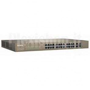 Switch PoE Desktop Web Smart 24 10/100+2GE+2SFP Combo, TEF1226P-24