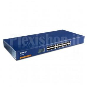 Switch 24 porte 10-100 Blu Unmanaged TEH2400M
