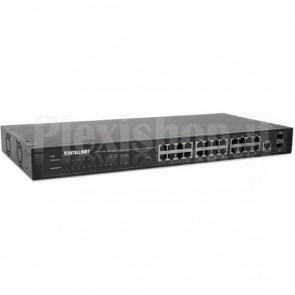 Switch 24 porte Web-Managed Gigabit Ethernet con 2 porte SFP
