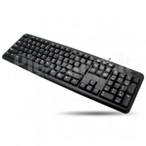 Tastiera 104 tasti USB layout americano Nero