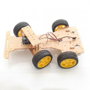 Telaio veicolo robot in acrilico + motori
