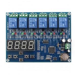 Timer digitale programmabile 5 uscite, XH-M194