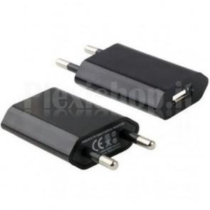 Trasformatore da Rete Italiana a USB Nero 1Ah