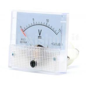 Voltmetro analogico da pannello 15 volt dc