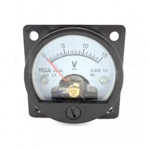 Voltometro Analogico da Pannello 0-15V CC