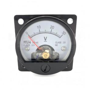 Voltometro Analogico da Pannello 0-30V CC