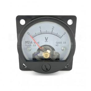 Voltometro Analogico da Pannello 0-3V CC
