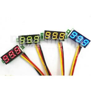 """Voltometro DC con display LED giallo da 0.28"""", 0-100V"""