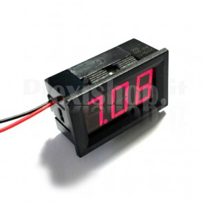 "Voltometro DC con display LED rosso da 0.56"", 5-120V"