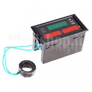Wattmetro digitale a induzione DL69-2047 per la misura di tensione, corrente, potenza attiva e cos Ф